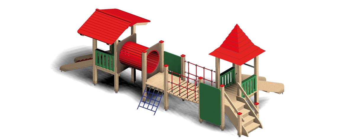 Variable Spielgeräte aus Holz