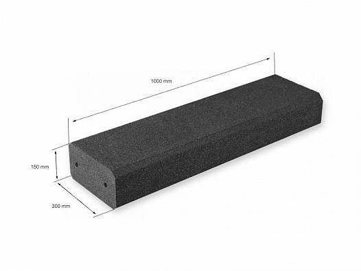 Sandkastenumrandung aus Blockstufe