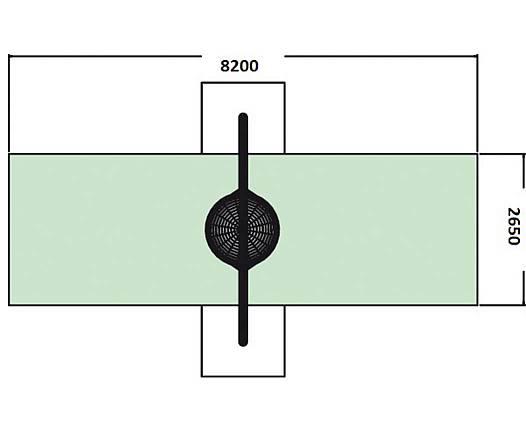 Bogenschaukel ohne Einhängeteil zum Einbetonieren