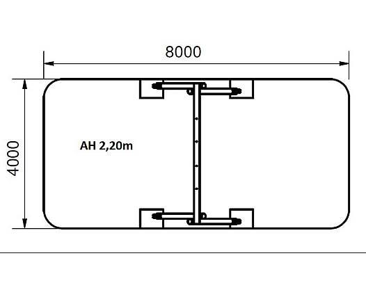 Doppelschaukel aus Robinie inkl. 2 Sicherheitsschaukelsitzen AH 2,20 m