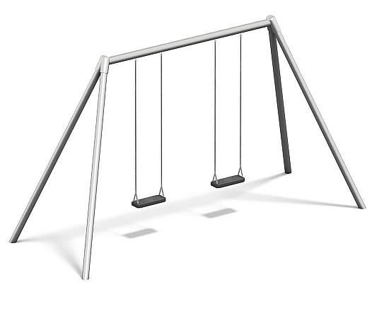 Doppelschaukel Metall/Metall AH 2,20 m oder 2,60 m inkl. Schaukelsitzen