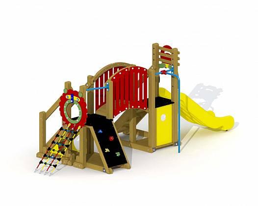 Klettergerüst für Kleinkinder Mammut mit Bogenbrücke