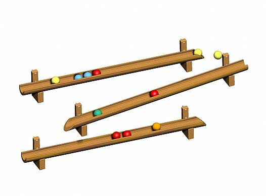 Kugelbahnrinnen (3 Stück)