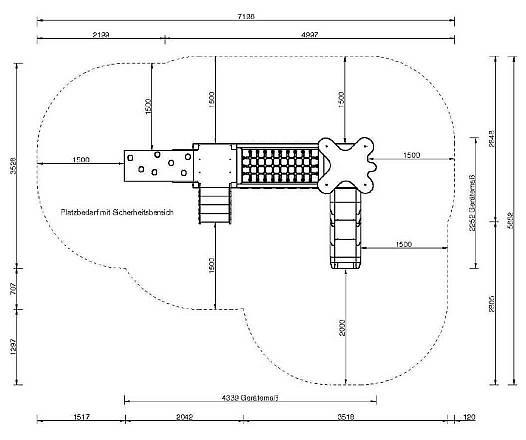 Schnulli-Park Spielkombination mit Steg