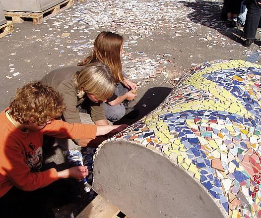 Mittelteil-Rohling f. Mosaikschlange verschwindend