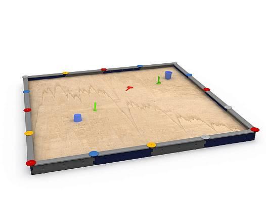 Sandkasten mit 16 Seiten