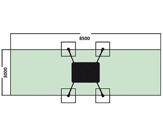 Easy-Swing Midi Schaukelbett inkl. Einhängeteil