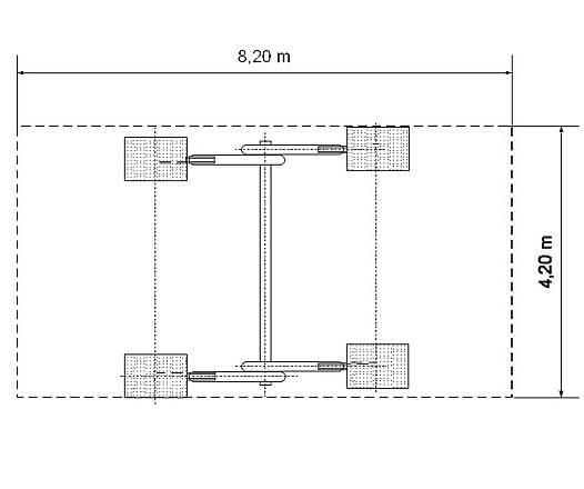 Schaukelgestell aus Douglasie/Aufhängehöhe 2,00 m/2,50 m