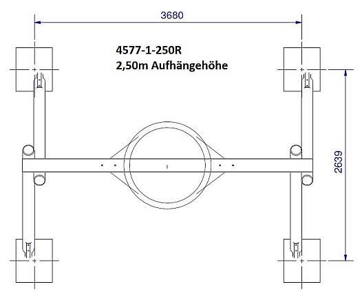Schaukelgestell aus Robinie Aufhängehöhe 2,20 m und 2,50 m