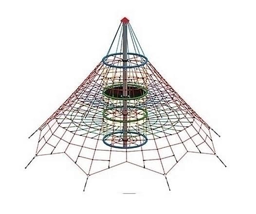 Seilnetz-Pyramide Dino 1