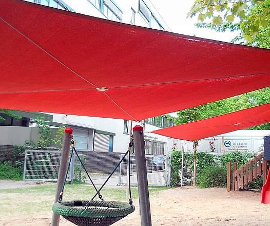 Sonnensegelanlage 5 x 5 m