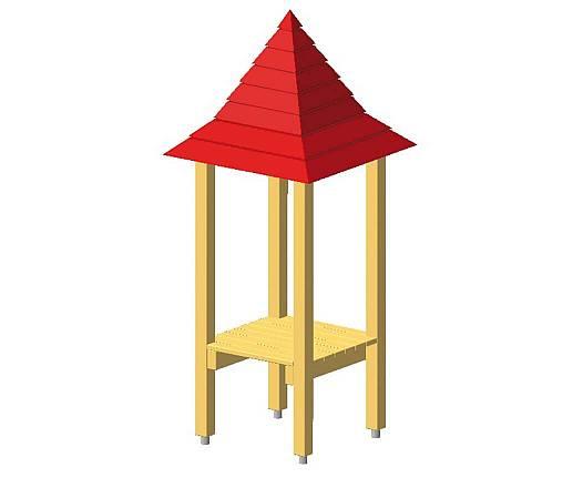 Turm mit Spitzdach