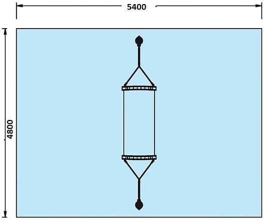 Stahl-Standpfosten für Hängematten