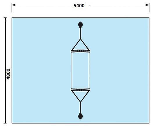 Stahlseilglieder-Hängematte