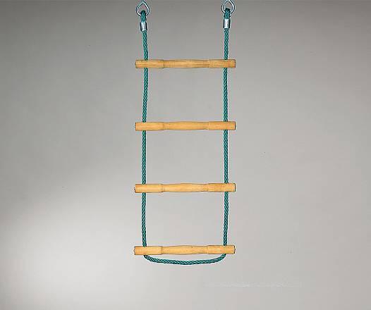 Strickleiter mit Akazienholzsprossen