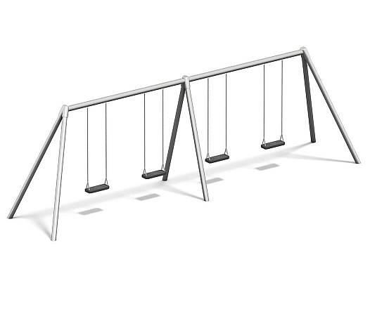 Vierfachschaukel Metall/Metall AH 2,20 m oder 2,60 m inkl. Schaukelsitzen