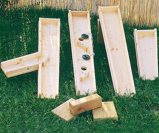 Holzkugeln, 3er Set