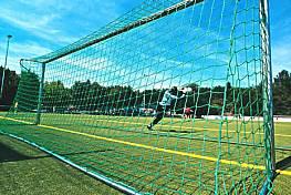 Fußballtornetze (1 Paar) aus Polypropylen, ca. 5 mm stark, superstarke Ausführung, Maschenstellung quadratisch 120 x 120 mm