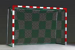 Tornetz aus Polypropylen (1 Paar), 3,5 mm stark, weiß oder mit Schachbrettmusterung (2-farbig)