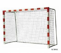 Handball-Tornetz Ultra aus Polypropylen (1 Paar), in Flecht/Flecht-Technik, 4,9 mm stark, Maschenweite 10 cm, schwarz