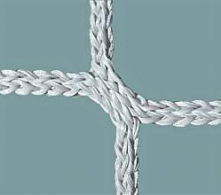 Jugend-Fußballtornetz (1 Paar) aus Polypropylen, hochfest, ca. 5 mm stark - SUPERSTARKE AUSFÜHRUNG!, Maschenform quadratisch 120 mm