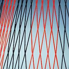 Netz aus Polypropylen, ø 4 mm, Maschenweite 120 mm, 2farbig, PREIS PRO METER!!