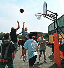 Basketball-Netz aus Polyethylen- oder Nylon-Flechtleine, ca. 3 mm stark