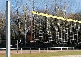 Volleyballnetz aus DRALO® oder PA-ummanteltem Stahlseil (grün), Maschenweite 10 cm, 1 x 9,50 m