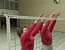Volleyball-Trainingsnetz Exklusiv, Polypropylen 2,3 mm, ringsum eingefasst