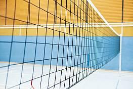 Volleyball-Langnetz, Polypropylen, ca. 2,3 mm stark, mit Kevlarseil, PREIS PRO METER!!