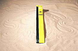 Beachvolleyball-Antennengarnitur, Länge 1,80 m, gelb (1 Paar)