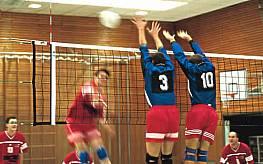 Volleyball-Turniernetz, Polypropylen, ca. 3 mm stark, mit Kevlarseil, 6-Punkte-Aufhängung