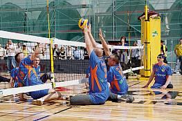 Sitz-Volleyballnetz, Größe: 0,80 x 6,50 m