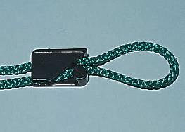 Spannschnüre für Netze mit Prüfzeichen DVV I und II, 2 m lang, grün