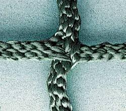 Superstarkes Tennisnetz aus Polypropylen, hochfest, ca. 4 mm stark, ringsum eingefaßt