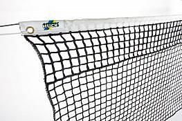 Tennisnetz aus Polypropylen, ca. 3 mm stark, oben mit Doppelreihen (separat aufgenäht)