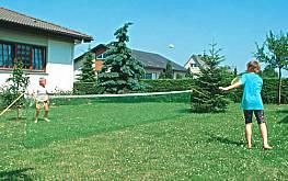 Rasen-Kindertennisnetz 6 x 0,80 m (Garnitur)