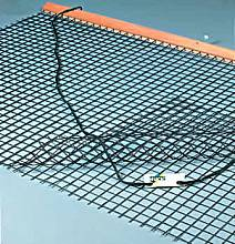 Tennisschleppnetz komplett, 3 mm stark, zweilagig, Maschenweite 4 x 4 cm, doppelte Netzlage