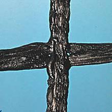 Beschichtetes Polyestergewebe für Tennisschleppnetze (1 Rolle), 3 mm stark, Maschenweite 4 x 4 cm, schwarz