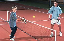 Kinder-Tennisnetz aus Polypropylen, 1,5 mm stark, 0,70 x 3 m ODER 0,70 x 6 m groß, Maschenweite 30 mm