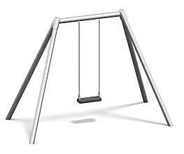 Einfachschaukel Metall/Metall AH 2,20 m oder 2,60 m