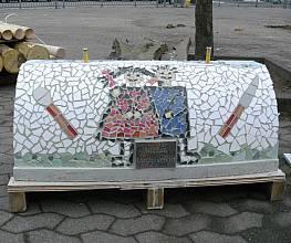 Mittelteil-Rohling f. Mosaikschlange gebogen