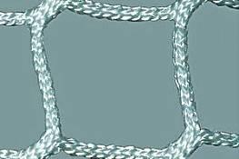 Rollhockey-Tornetze (1 Paar) aus Polyester, 4 mm stark, knotenlos, Maschenweite 4 cm