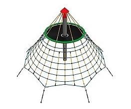 Seilnetz-Pyramide Dino 3