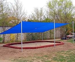 Sonnensegelanlage 4 x 4 m